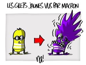 Les gilets jaunes vus par Macron