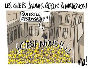 Les gilets jaunes reçus à Matignon