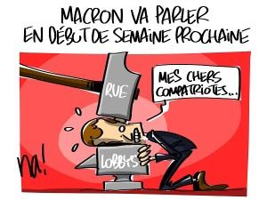 Macron va parler