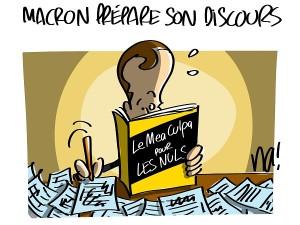 Macron prépare son discours