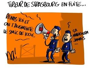 Le tireur de Strasbourg en fuite