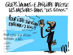 """Gilets jaunes, Edouard Philippe précise les mesures dans """"les échos"""""""