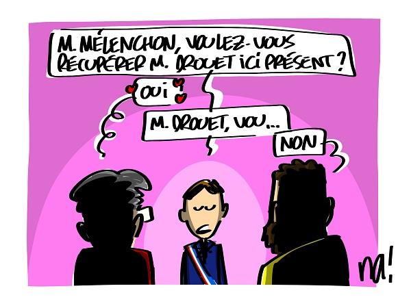 Le dessin du jour (humour en images) - Page 22 2411_m%C3%A9lenchon_r%C3%A9cup%C3%A9ration_drouet