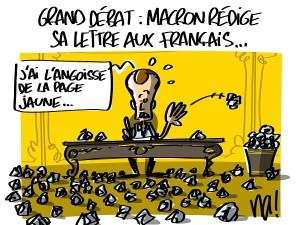 Grand débat : Macron rédige sa lettre aux Français