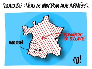Toulouse, voeux de Macron aux armées