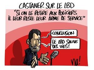 Castaner au sujet du LBD