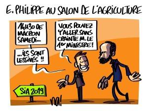Edouard Philippe au salon de l'agriculture