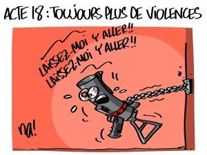 Acte 18, toujours plus de violences