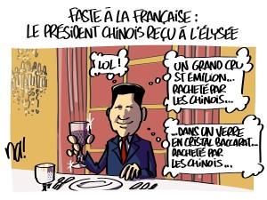 Faste à la française, le président chinois reçu à l'Elysée