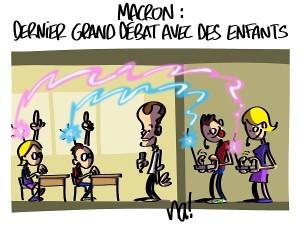 Macron, dernier grand débat avec des enfants