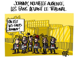 Johnny, nouvelle audience, les fans devant le tribunal