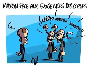 Macron face aux exigences des Corses
