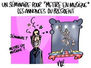 «mettre en musique» les annonces du président
