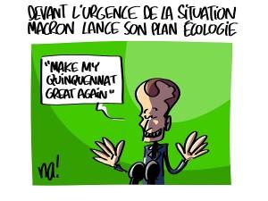 Macron lance son plan écologie