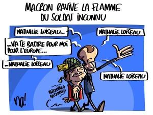 Macron ravive la flamme du soldat inconnu