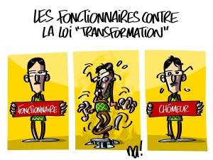 Les fonctionnaires contre la loi «transformation»