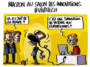 Macron au salon des innovations #vivatech