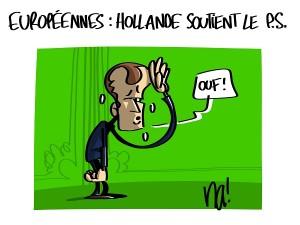 Européennes, François Hollande soutient le PS