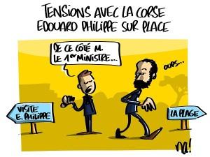 Tensions avec la Corse, Edouard Philippe sur place