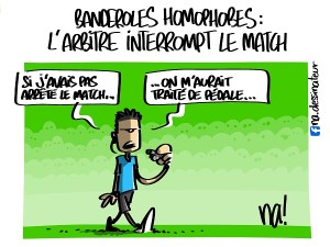 Banderoles homophobes, l'arbitre interrompt le match