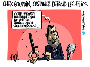Chez Bourdin, Castaner défend la police
