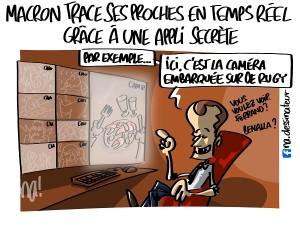 Macron trace ses proches en temps réel grâce à une appli secrète