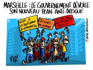 Marseille, le gouvernement dévoile son nouveau plan anti-drogue