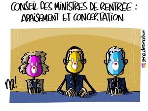 Conseil des ministres de rentrée : apaisement et concertation