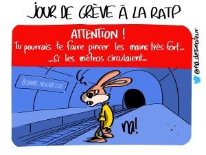 Jour de grève à la RATP