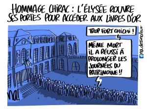 Hommage Chirac, des livres d'or à l'Elysée