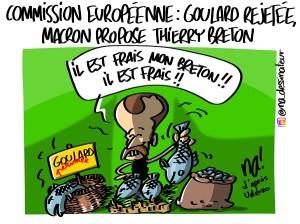 Commission européenne, Goulard rejetée, Macron propose Thierry Breton