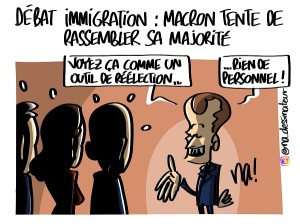 Immigration, Macron tente de rassurer sa majorité