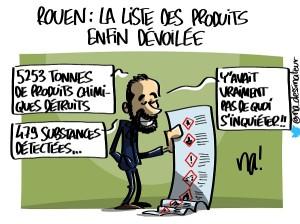 Rouen, la liste des produits enfin dévoilée