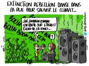 Extinction Rebellion danse dans la rue pour le climat