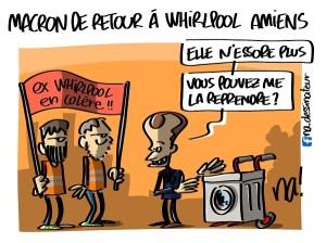 Macron de retour à Whirlpool Amiens