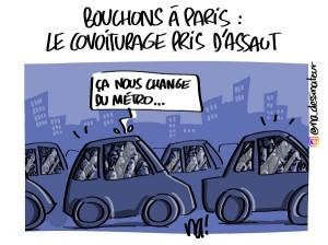 Bouchons à Paris, le covoiturage pris d'assaut