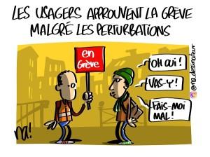 Les usagers approuvent la grève malgré les perturbations