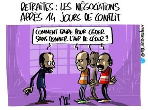 Retraites : les négociations après 14 jours de conflit