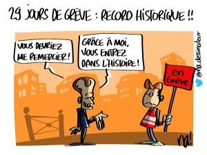 29 jours de grève : record historique !