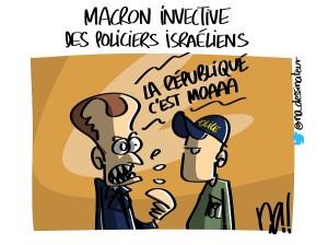 Macron invective des policiers israéliens