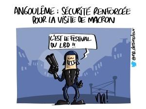 Angoulême, sécurité renforcée pour la visite de Macron