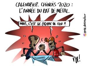 calendrier chinois 2020 : l'année du rat de métal