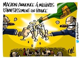 Choose France, macron reçoit des investisseurs étrangers