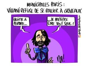 Municipales Paris, Villani refuse de rallier Griveaux