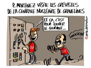 Philippe Martinez à Gravelines