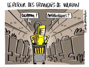 Le retour des Français de Wuhan