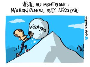 Visite au Mont Blanc, Macron renoue avec l'écologie