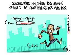 Coronavirus en Chine, des drones prennent la température des malades