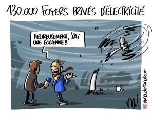 Ciara, 130.000 foyers privés d'électricité