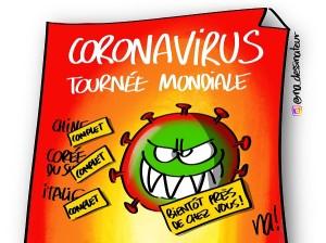 coronavirus tournée mondiale